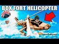 WORKING BOX FORT HELICOPTER!! 📦🚁