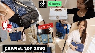 💟💟 CHANEL 20P SPRING-SUMMER 2020 6 BAGS TRY OUT 🤩 MOD SHOT CHANEL 19 👝 PEARL 👚👜 20 FEB 2020 VISIT