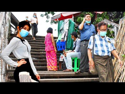 Business under lockdown in Yangon
