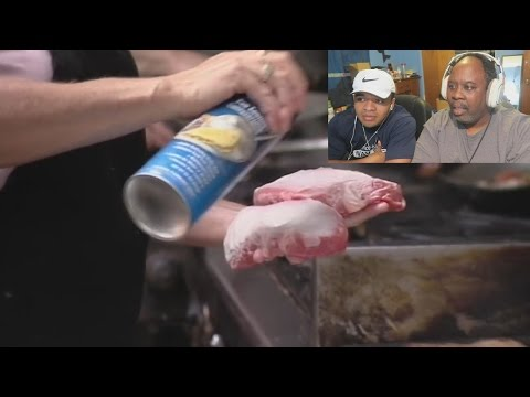 Dad Reacts to DISGUSTING Restaurant Sprays Their Steaks Before Cooking!