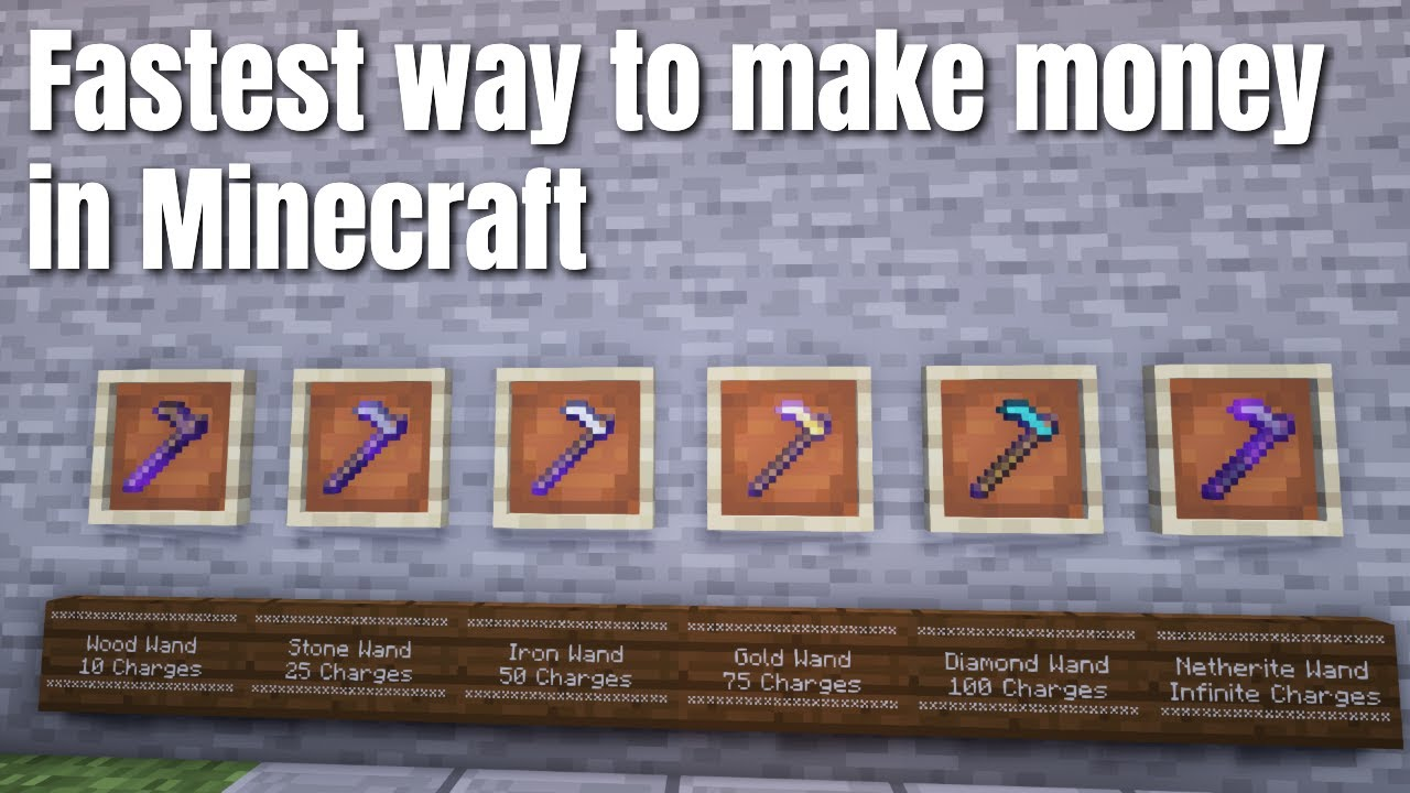 How to use a Sell Wand in Minecraft Skyblock Tutorial | Get in game currency fast win the game!