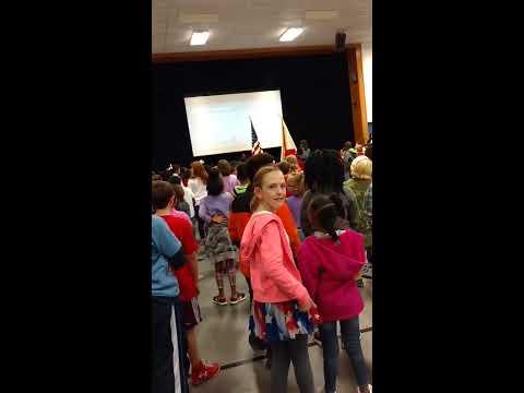 Pledge of Allegiance - Weeden Elementary School, Florence, Alabama 9/10/16