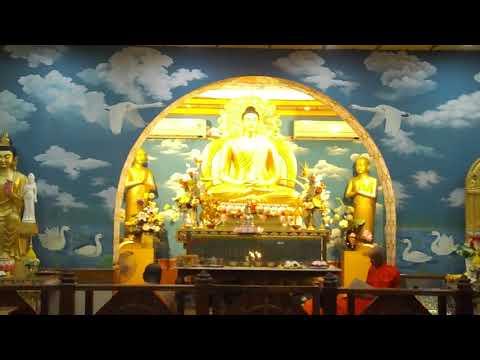 sacred singing in Bodh Gaya temple