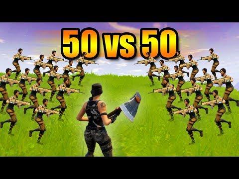 NEW 50 VS 50 PLAYER GAME MODE! *INSANE 50v50 WAR!* | Fortnite Battle Royale