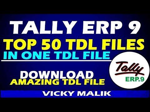 Tally All In One TDL File   50 TDL Files In One TDL File   Download TDL For Tally ERP 9   #TDL File