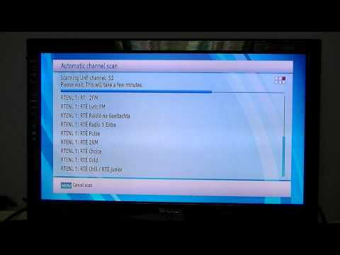 Walker WP6500TTR Saorview+ PVR - How to Tune in Saorview