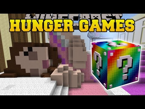 Minecraft: GAMINGWITHJEN'S BEDROOM HUNGER GAMES - Lucky Block Mod - Modded Mini-Game