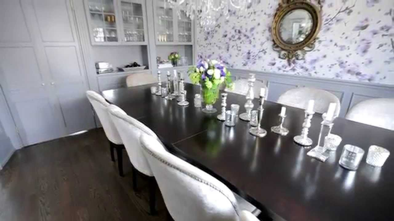 Interior Design U2014 Floral, Sweet U0026 Pretty Dining Room Makeover   YouTube