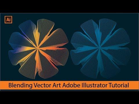 Blending Vector Art -  Illustrator Tutorial (3D Flower) Graphic Design