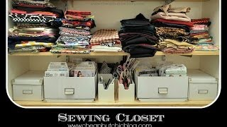 Sewing Closet Tour + Organization Tips