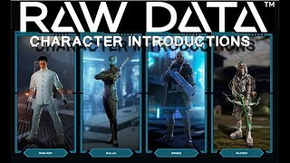 Raw Data   Character introductions: Weapons and Special Abilities