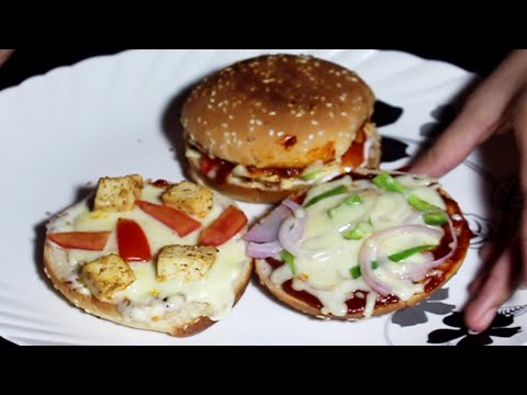 new-pizza-burger-in-domino's-style-|-without-microwave-oven