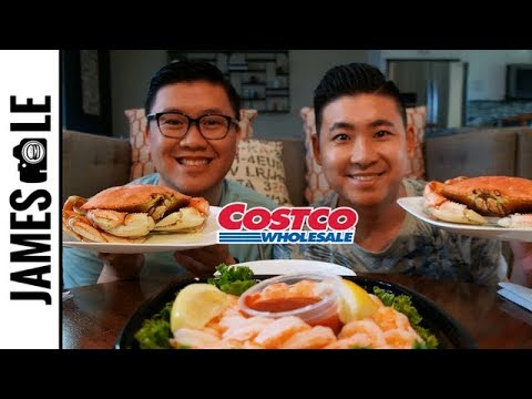 DUNGENESS CRAB MUKBANG - COSTCO SEAFOOD TASTE TEST