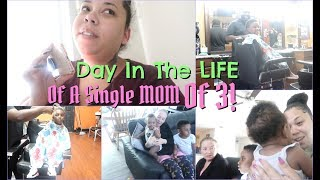Taking The KIDS to The Barber Shop, Feeling New Feelings...| DITL of a SINGLE MOM