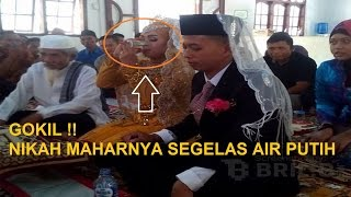Heboh! Pernikahan Unik 2016 Maskawin Mahar Segelas Air Putih
