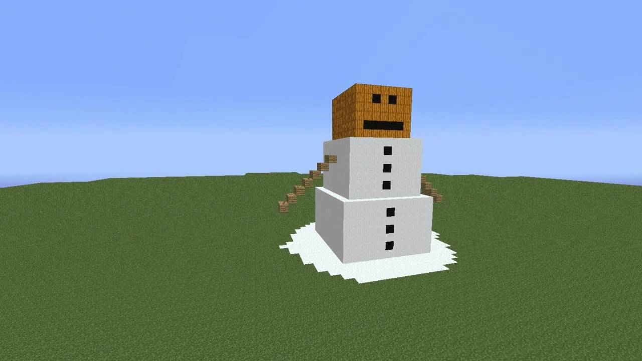 minecraft statue bonhomme de neige youtube. Black Bedroom Furniture Sets. Home Design Ideas