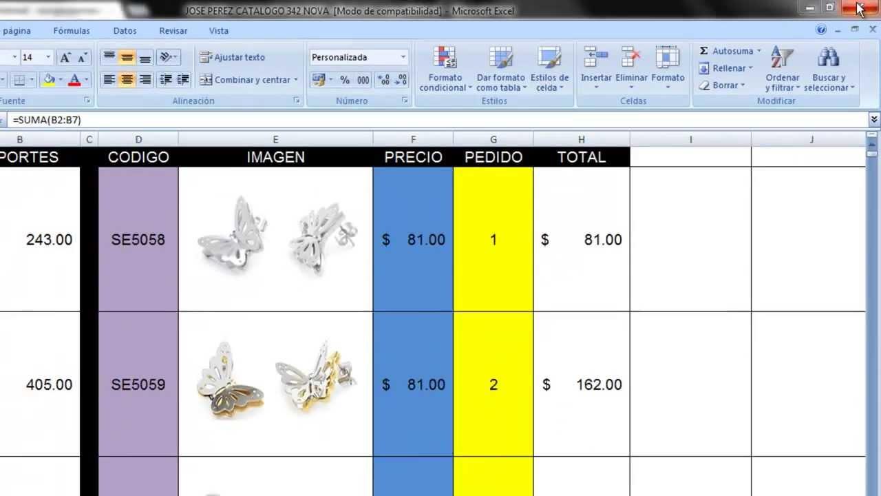 Como hacer un pedido desde catalogo excel youtube for Modelo de catalogo de productos