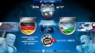 Clash of Clans Weltmeisterschaften   Deutschland vs Dschibuti   Clash of Clans live deutsch