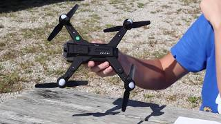 Best $50 Camera Drone Crazy Long Flight Time - Battle Shark Tianqu Visuo XS809S - TheRcSaylors