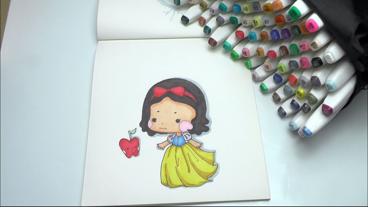 How To Draw Snow White Step By DIY YouTube