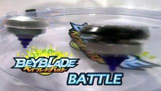 Beyblade Burst ベイブレードバースト B-42 Deathscyther Force Jaggy VS B-12 Deathscyther Oval Accel