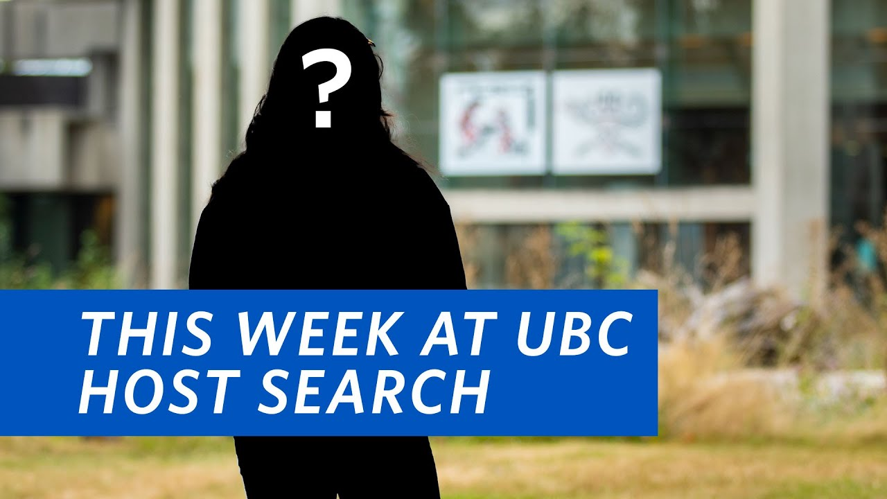 This Week at UBC Host Search