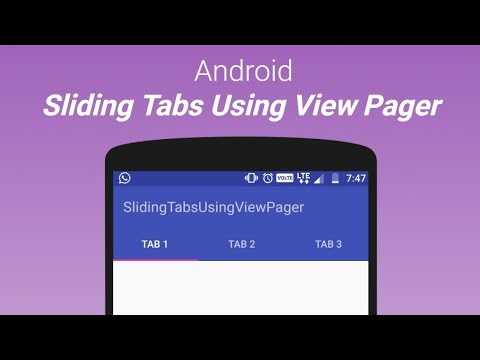 Sliding tabs using ViewPager in Android Studio