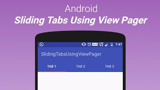 Sliding tabs using ViewPager in Android Studio Video