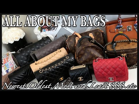 ALL ABOUT MY LUXURY BAGS | Newest & Oldest, Most & Least Expensive, Most Hyped, Favorites | GINALVOE