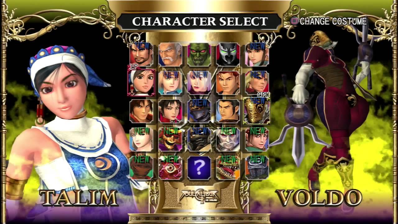 Soul Calibur Ii Hd Online Character Roster Youtube