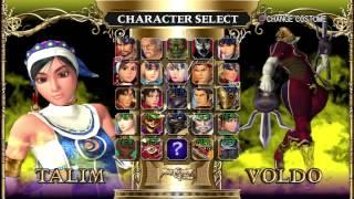 Soul Calibur II HD Online Character Roster