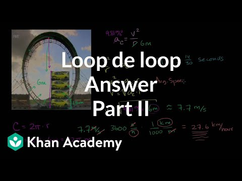 Loop de loop answer part 2 | Centripetal force and gravitation | Physics | Khan Academy