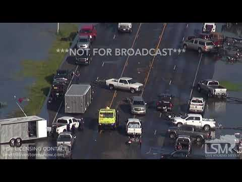 8-31-2017 Port Arthur, Tx Extreme flooding shot from Helicopter Flash Flooding Harvey