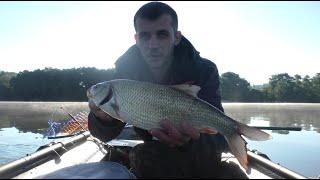 рыбалка на кольцо с лодки на реке Чулым