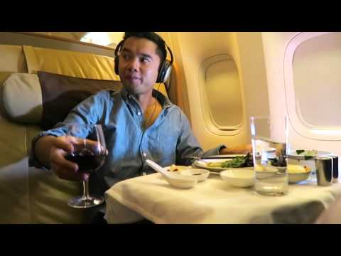 FLYING FIRST CLASS ON SINGAPORE AIRLINES TO SEOUL - Vlog 006