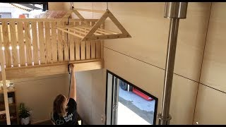 Tiny House With Ingenious Pulley System