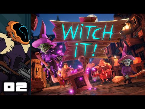 Let's Play Witch It! With Friends - PC Gameplay Part 2 - Haunted Haypile!