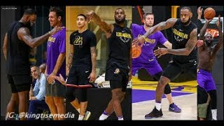 LeBron James, Kyle Kuzma, Lance & Lakers Put In Work In 5 On 5 Practice Scrimmages