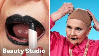 Get Halloween Ready With Grandma! 🎸👻 | Granny Glam | Beauty Studio