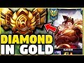 I TOOK MY GAREN INTO GOLD! DIAMOND GAREN ONE-TRICK VS GOLD ELO! - League of Legends