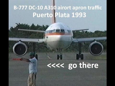 Historic raw retro video 1993: Dominican Republic - Puerto Plata Airport DC-10 B777 A310