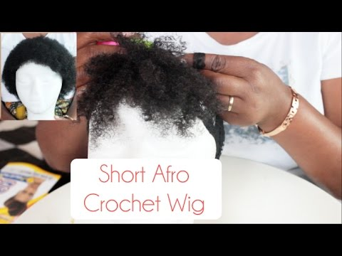 How To Make A Short Afro Crochet Wig Natural Sisters