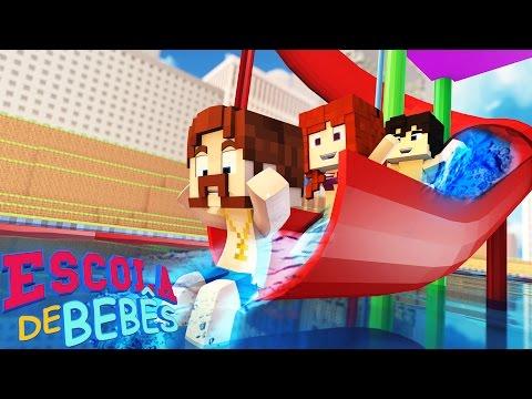 Minecraft : ESCOLA DE BEBÊS ( Baby School Daycare) - VIAGEM AO PARQUE AQUÁTICO !!