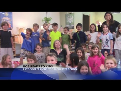 Rob Fowler Reads to 3rd graders at East Cooper Montessori Charter School