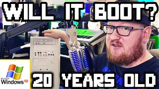 Will It BOOT? | 20 Years IN STORAGE | Windows XP Computer