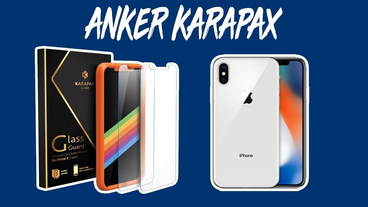 newest collection 15d21 1b193 ANKER Karapax iPhone X Screen Protector