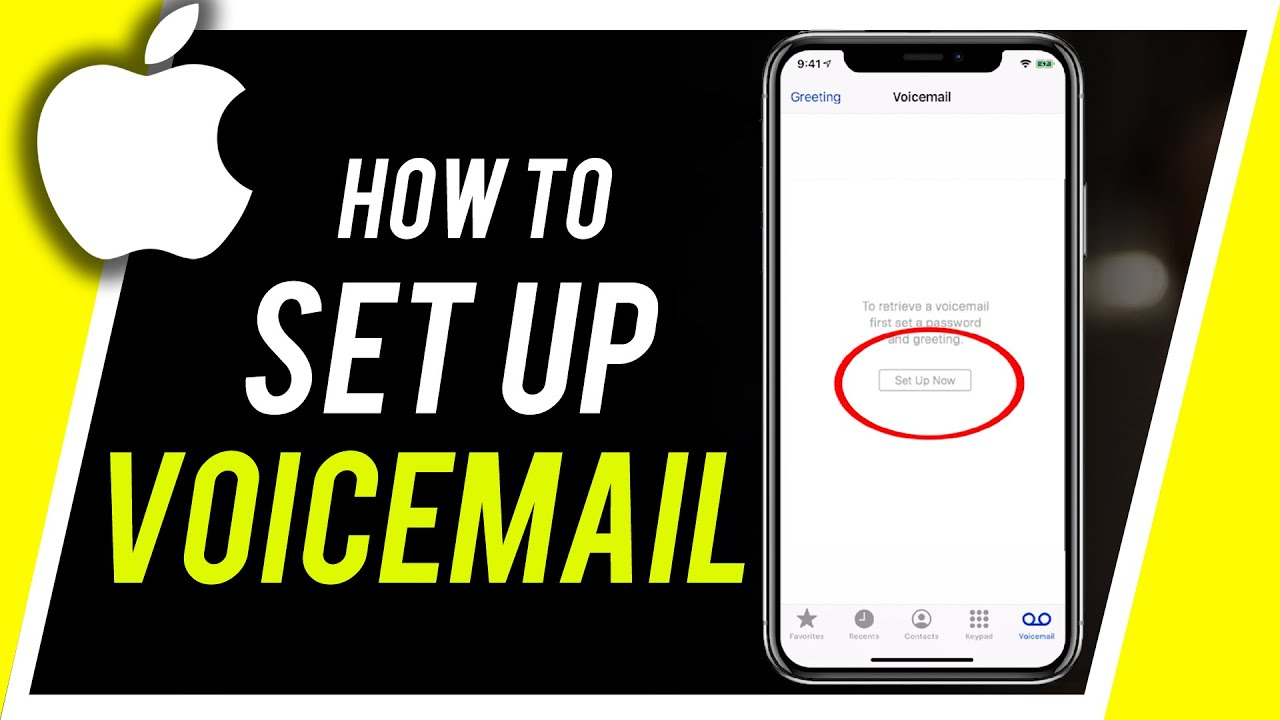 How To Set Up Voicemail On Iphone Youtube