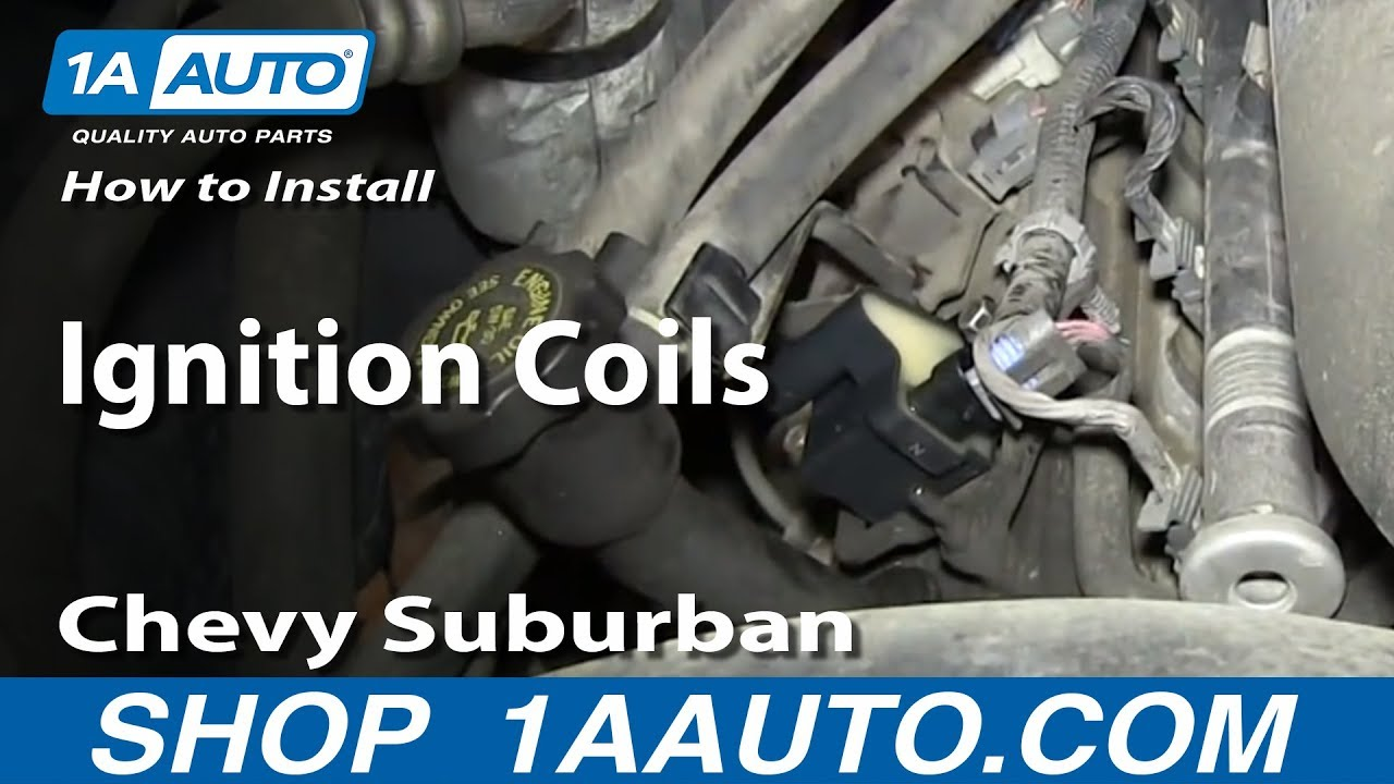 2007 Chevy Avalanche Parts Diagram Saturn Sl2 Radio Wiring How To Install Replace Ignition Coils 2000-06 5.3l Suburban - Youtube