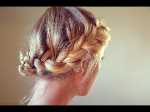 hair tutorial: elegant quick boho updo - youtube