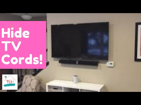 🍒 Easy DIY Way to Hide/Conceal Your TV Cords on Wall
